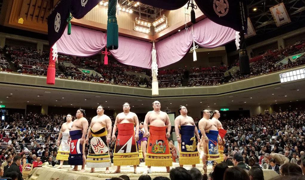 Sumo tournament at kokugikan