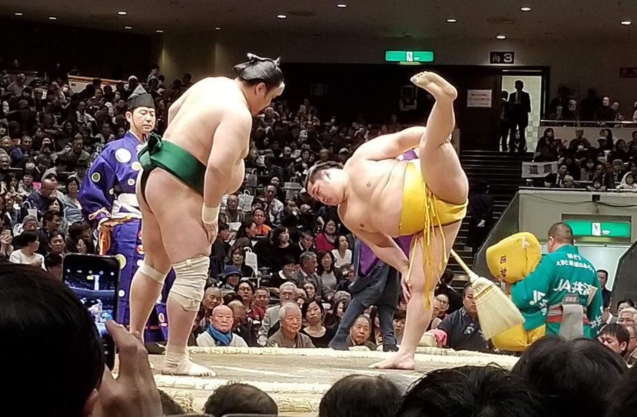 Sumo grand tournament in ryogoku kokugikan