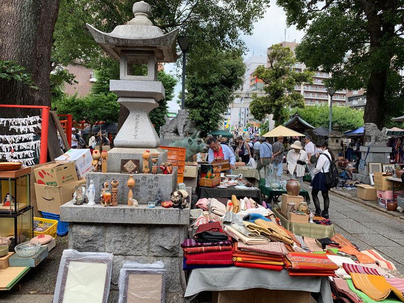 Antique Market at Shinto Shrine