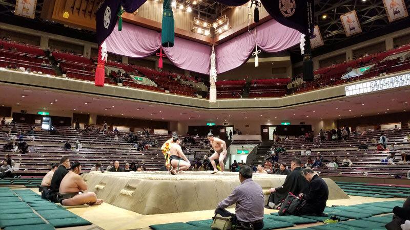 Grand Sumo Tournament in Ryogoku Kokugikan Tokyo