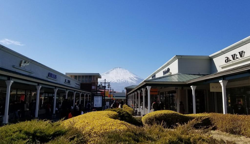 Mt. Fuji from Gotenba Outlet Park